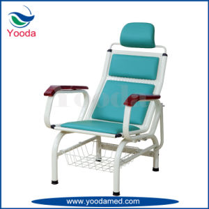 Steel Infusion Recliner with Wooden Armrest pictures & photos