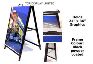 "Calibre Metal a Frame & Inserts Media 4mil Coroplast - Glimmer Sign Design 24X36"", 32""X48"" Display Hardware Advertising Stand Brisbane Sandwich Boad Display pictures & photos"