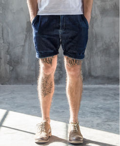 Classic Custom Simple Original Slim Fashion Leisure Washed Men′s Jeans Short Pants pictures & photos
