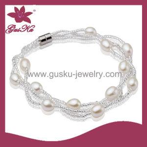 2015 Plb-021 Natural White Pearl Bracelet, Custom Unique Pearl Bracelet