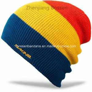 OEM Produce Custom Logo Printed Army Green Sports Customized Knitted Beanie Cap pictures & photos
