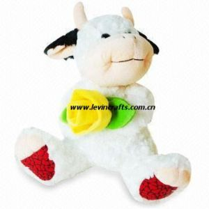 Stuffed Plush Soft Cow Easter Toys