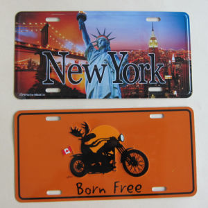 Customized Metal Number Plate Auto Car Accessories pictures & photos