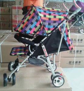 Popular Color Baby Stroller with Suspension Wheel