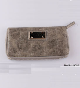 Newest Women Fashion Money/Coin/Card Wallet with Logo (HAW0467) pictures & photos