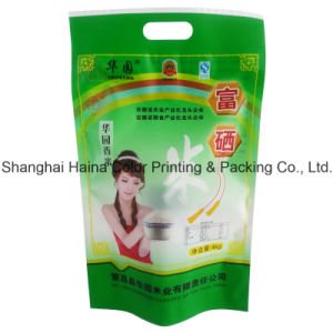 Plastic Compound Printing Food Packaging Handle Bag