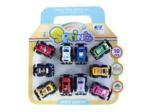 Hot Sale 10 PCS Plastic Promotion Pull Back Car (10221091) pictures & photos