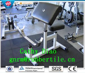 Gym Rubber Flooring Tile /Rubber Walking Tile Mats/ Recycled Rubber Tiles Wearing-Resistant Rubber Tile pictures & photos