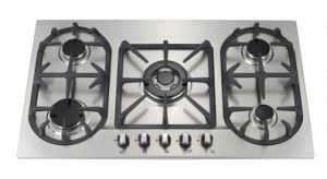 5 Burners Cast Iron Pan Support Gas Stove
