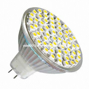 Hot Sale Decorative Lamp Bulb MR16 3528 60 SMD LED 12V Dimmable Spotlight pictures & photos