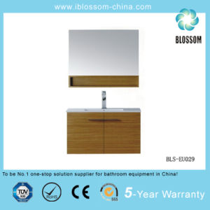 MDF Bathroom Cabinet with Mirror (BLS-EU029) pictures & photos