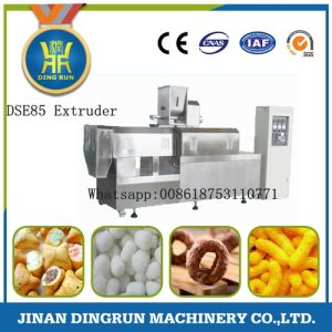 new design puffed snack food processing machinery, shrimp type snack food machine pictures & photos
