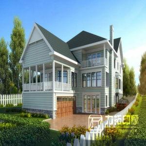 Villa Outdoor Rendering 3D Effect Image