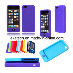 Silicone Case with Button for iPhone 5s (JK-IPH5-A-03) pictures & photos