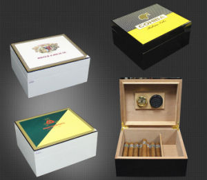 Customized Painting Cohiba Cigar Humidors pictures & photos