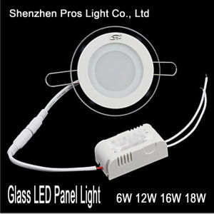 Glass LED Panel Light 6W Recessed for Ceiling Lamp pictures & photos