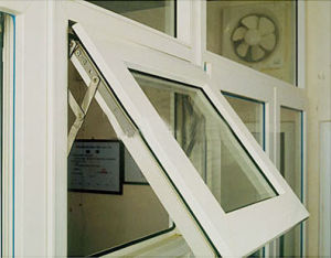 Double Glazing UPVC Window PVC Awning Window UPVC Top Hung Window with High Quality pictures & photos