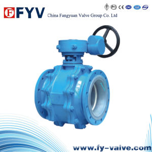 API 6D Fixed Ball Valve with Gear Operation pictures & photos
