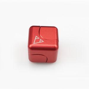 2017 New Design Revolve Magic Cube Fidget Spinner Metal pictures & photos