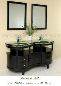 Bathroom Vanity with Double Glass Sink pictures & photos
