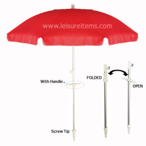 Beach Umbrella with Handle and Screw Tip (OCT-BUAUPH01) pictures & photos