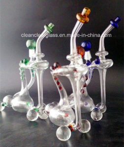Creative Slim Cooler Recycler Water Pipe Oil Rig with Inliner Per and 14.5mm Joint