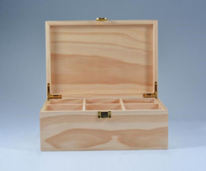 Natural Pine Wooden Tea Storage Box pictures & photos