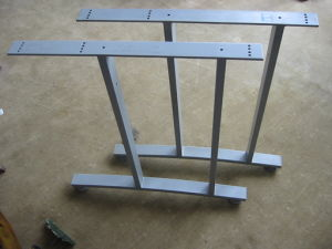 Powder Coating Surface Steel Table or Desk Frame Leg pictures & photos