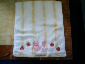 Customized Embroidered Cotton Terry Face Towels Cu-301