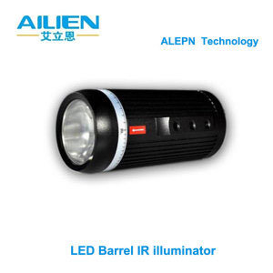 LED Array Barrel Infrared Illuminator with Adjustable Focus Lens. IR Lamp for CCTV Camera (ALN-100RK)