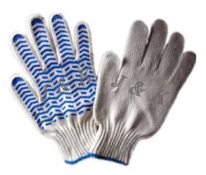 Safety Gloves Cotton Drill Gloves Safety Products pictures & photos