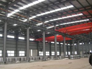 Prefabricated Workshop Plant Steel Structure Building with Overhead Cane pictures & photos