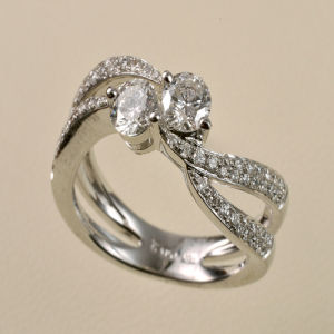 Gold Diamond Wedding Ring (9158)
