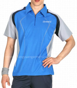 Custom Made Men′s Breathable Polo T-Shirt for Tennis