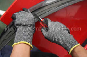 Cut Resistant Safety Work Glove with Sandy Nitrile (ND8061) pictures & photos