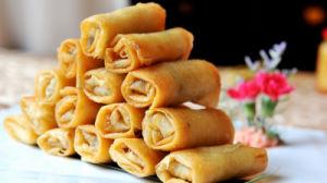 HACCP Brc Certifacte Tsingtao Vegetable 15g/piece Spring Rolls in Frozen Cookin pictures & photos