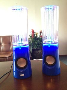 2014 New Style LED TF Card USB Dancing Water Speaker