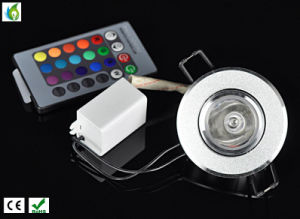 3W RGB LED Ceiling Light AC85-265V Rotatable Downlights Bulb Lamp with Remote Control pictures & photos