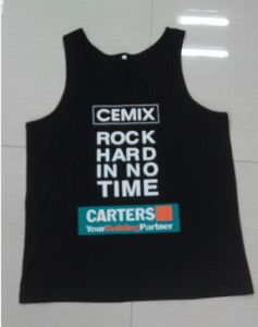 2015 Wholesale 100%Cotton Screen Printing Mens Singlet pictures & photos
