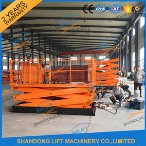 Fixed Vertical Scissor Cargo Lift Table with Ce pictures & photos