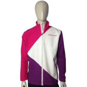 Lady′s Windproof Sport Softshell Jacket pictures & photos