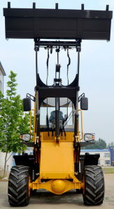 Ce Certificate 1 Ton Mini Wheel Loader with Snow Blade Snow Bucket Grasp Fork Grapple Bucket pictures & photos