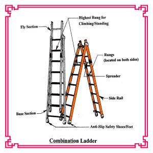 Aluminum Extension Combination Ladder pictures & photos