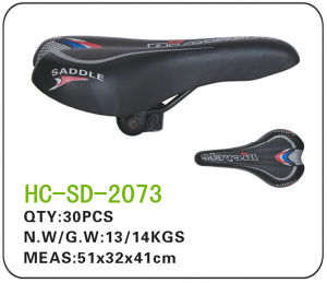 Black Leather MTB Saddle (SD-2073) pictures & photos