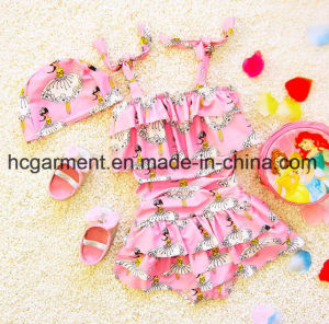 Baby′s Girl Printed Lovely Bikini, Kids Swimming Wear pictures & photos
