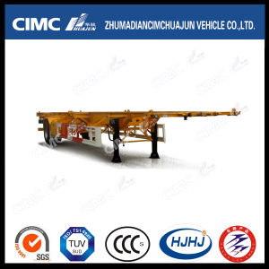 Cimc Huajun Lightweight 1axle Skeleton Container Semi-Trailer pictures & photos