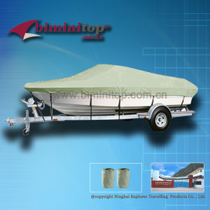 Beige 600d Heavy Duty Marine Fabric Boat Mooring Cover