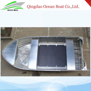 4.5m 15FT Tenvi Basic Aluminum Boat Small Fisherman Motor Boat with CE pictures & photos