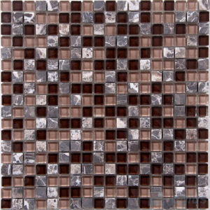 Brown Blend Crystal Mosaic with Marble Stone