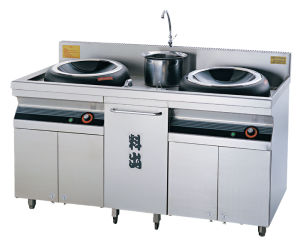 Double Heads Electromagnetic Fried Induction Stove (FEHCK100) pictures & photos
